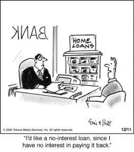 No Interest Loan Cartoon