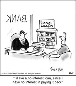 No Interest Loan Cartoon
