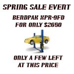 Bendpak XPR-9FD sales offer 2