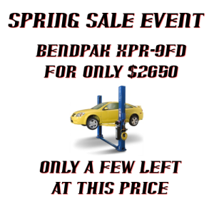 Bendpak XPR-9FD sales offer 2