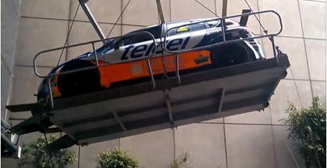 car falls 10 feet